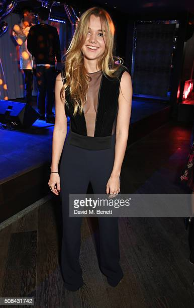 Immy Waterhouse attends the InStyle EE Rising Star party ahead of the EE BAFTA Awards at 100 Wardour St on February 4 2016 in London England