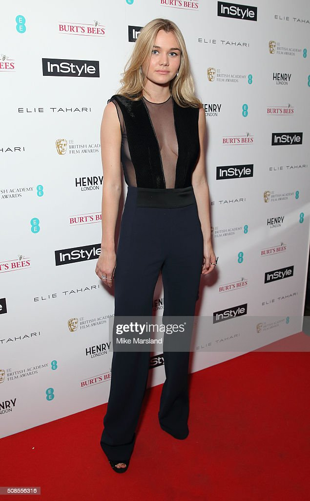 Immy Waterhouse attends the InStyle EE Rising Star Pre-BAFTA Party at 100 Wardour Street on February 4, 2016 in London, England.