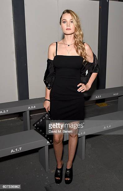 Immy Waterhouse attends the VERSUS show during London Fashion Week Spring/Summer collections 2017 on September 17 2016 in London United Kingdom