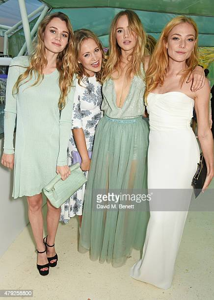 Immy Waterhouse Poppy Jamie Suki Waterhouse and Clara Paget attend The Serpentine Gallery summer party at The Serpentine Gallery on July 2 2015 in...