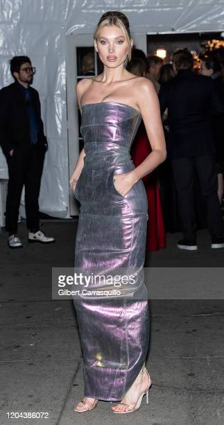 iModel Elsa Hosk s seen arriving to the 2020 amfAR New York Gala at Cipriani Wall Street on February 05 2020 in New York City