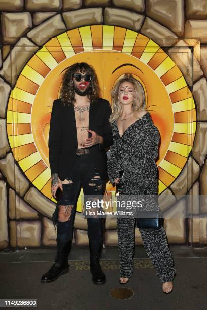 Imogen Anthony and friend attends the Justin Cassin show at MercedesBenz Fashion Week Resort 20 Collections at the Big Top Luna Park Sydney on May 15...