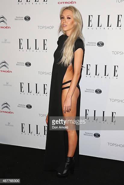 Imogen Anthony arrives at Elle Style Awards 2014 at on October 24 2014 in Sydney Australia