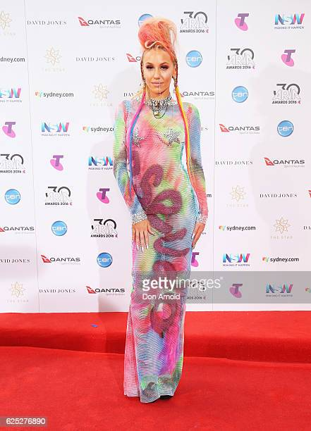 Imogen Anthony arrives for the 30th Annual ARIA Awards 2016 at The Star on November 23 2016 in Sydney Australia