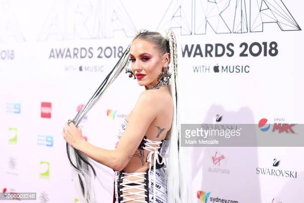 Imogen Anthony arrives for the 32nd Annual ARIA Awards 2018 at The Star on November 28 2018 in Sydney Australia