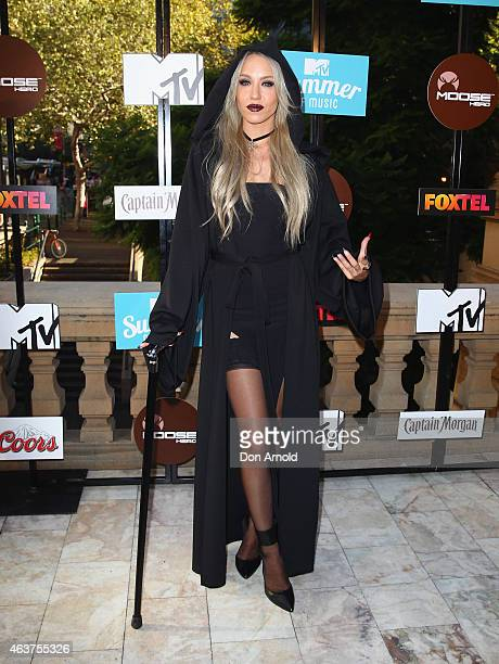 Imogen Anthony attends MTV's Summer Of Music Photo Call Sydney Town Hall on February 18 2015 in Sydney Australia
