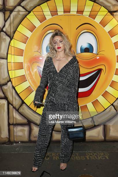 Imogen Anthony attends the Justin Cassin show at MercedesBenz Fashion Week Resort 20 Collections at the Big Top Luna Park Sydney on May 15 2019 in...