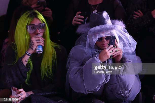 Imogen Anthony attends the runway during the Stolen Girlfriends Club show during New Zealand Fashion Week 2018 at Red Bull on August 29 2018 in...