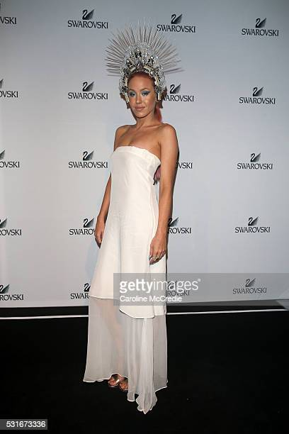 Imogen Anthony attends the Swarovski show at MercedesBenz Fashion Week Resort 17 Collections at Carriageworks on May 16 2016 in Sydney Australia