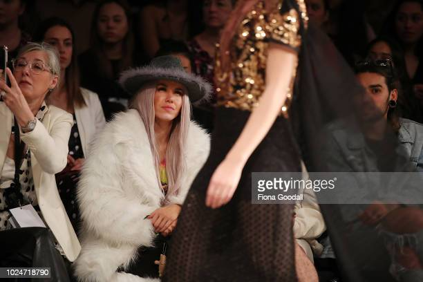 Imogen Anthony in the front row during the New Generation Emerging Couture show during New Zealand Fashion Week 2018 at Viaduct Events Centre⎠on...