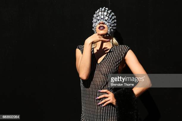 Imogen Anthony poses during MercedesBenz Fashion Week Resort 18 Collections at Carriageworks on May 16 2017 in Sydney Australia