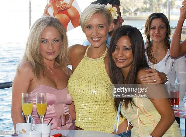 Imogen Bailey and Bessie Bardot attend the 2004 FHM Magazine 100 Sexiest Women Party at ECQ Bar at Circular Quay on March 26 2004 in Sydney Australia