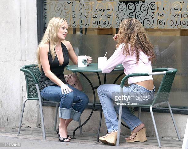 Imogen Bailey and Marcella Woods during Imogen Bailey Photo Session August 13 2004 at The Ritz in London Great Britain