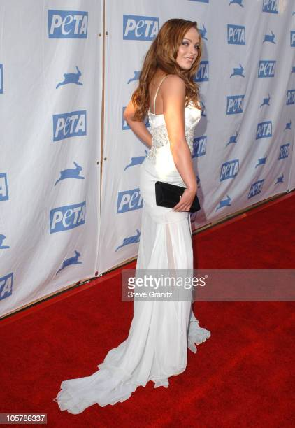 Imogen Bailey during PETA's 25th Anniversary Gala and Humanitarian Awards Show Red Carpet at Paramount Pictures in Hollywood California United States