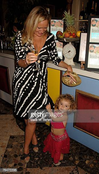 Imogen EdwardsJones and her daughter Allegra Allen attend the book launch party of Imogen EdwardsJones' new book 'Beach Babylon' at Beach Blanket...