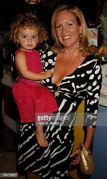 Imogen EdwardsJones and her daughter Allegra Allen attend the book launch party of Imogen EdwardsJones' new book 'Beach Babylon' at Beach Blanket...