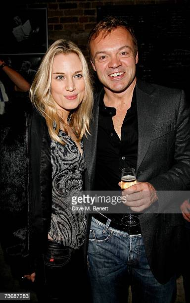 Imogen Lloyd Webber and Graham Norton attend the a fundraiser party for the Almeida Theatre at the Almeida Theatre on March 23 2007 in London England