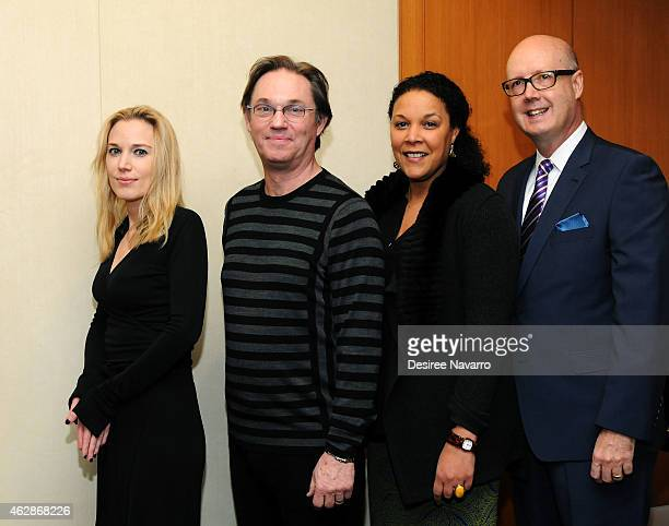 Imogen Lloyd Webber Richard Thomas Linda Powell and Bruce Whitacre attend 12th Annual National Corporate Theatre Fund Broadway Roundtable at UBS...