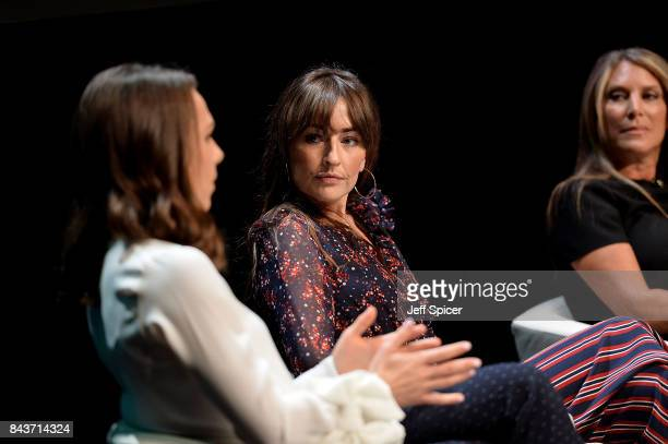 Imogen Pierce Michelle Kennedy and Shelley Zalis speak during the Woman and Machine talk during Technology with Heart Jaguar Land Rover's Tech Fest...