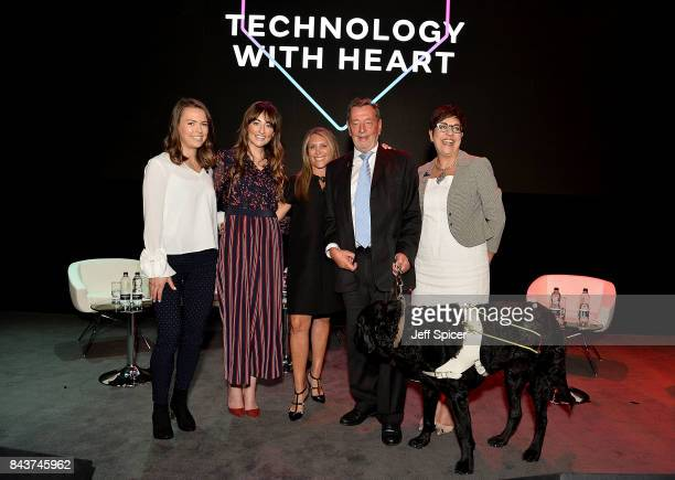 Imogen Pierce Michelle Kennedy Shelley Zalis Benita Mehra and Rt Hon Lord David Blunkett speak at the Woman and Machine talk during the Technology...