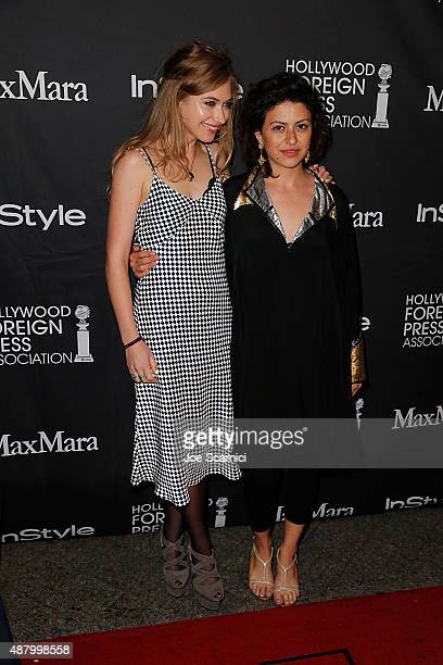 Imogen Poots and Alia Shawkat attend HFPA/InStyle's Annual TIFF Celebration at Windsor Arms Hotel on September 12 2015 in Toronto Canada