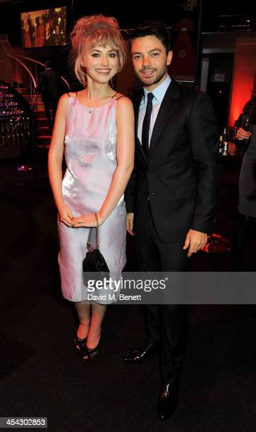 Imogen Poots and Dominic Cooper attend the Moet Reception at the Moet British Independent Film Awards 2013 at Old Billingsgate Market on December 8...