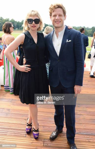 Imogen Poots and James Norton attend the Audi Polo Challenge at Coworth Park Polo Club on July 1, 2018 in Ascot, England.