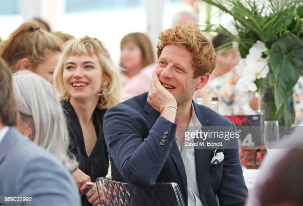 Imogen Poots and James Norton attend the Audi Polo Challenge at Coworth Park Polo Club on July 1 2018 in Ascot England