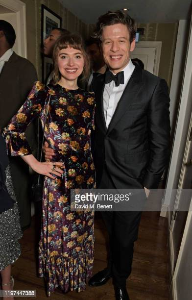 Imogen Poots and James Norton attend the dunhill & Dylan Jones Pre-BAFTA party at dunhill Bourdon House on January 29, 2020 in London, England.