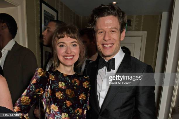 Imogen Poots and James Norton attend the dunhill Dylan Jones PreBAFTA party at dunhill Bourdon House on January 29 2020 in London England