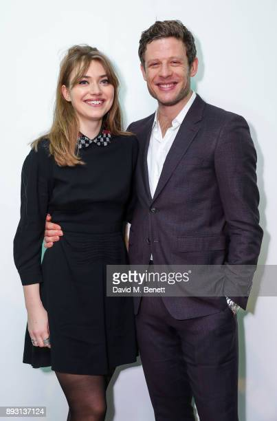 "Imogen Poots and James Norton attend the press night after party for the Donmar's production of ""Belleville"" at The Hospital Club on December 14,..."