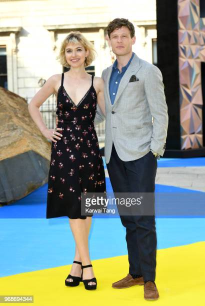 Imogen Poots and James Norton attend the Royal Academy of Arts Summer Exhibition Preview Party at Burlington House on June 6, 2018 in London, England.
