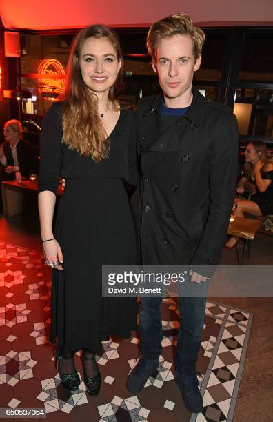 Imogen Poots and Luke Treadaway attend the press night after party for Who's Afraid Of Virginia Woolf at 100 Wardour St on March 9 2017 in London...