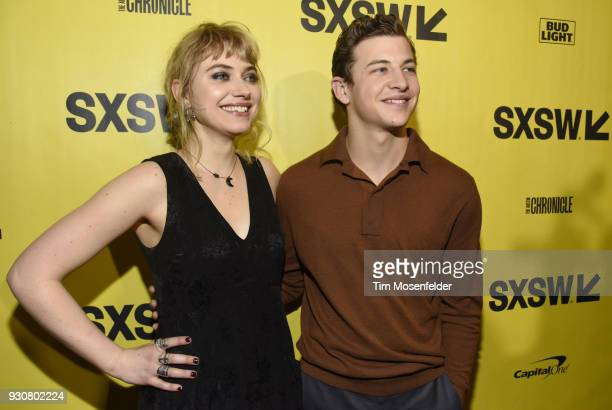 Imogen Poots and Tye Sheridan attend the premiere of Friday's Child at the Paramount Theatre on March 11 2018 in Austin Texas