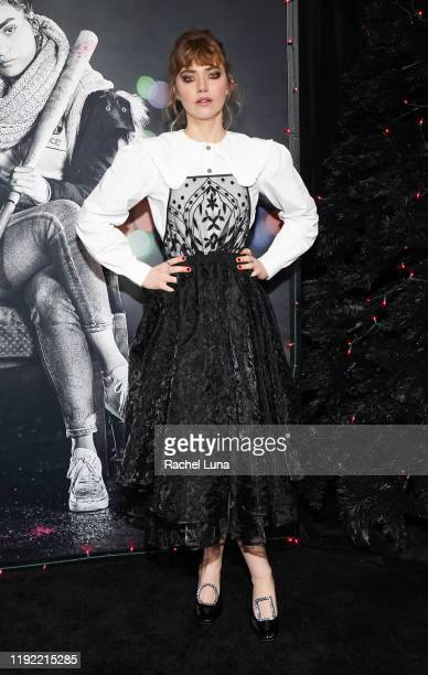 "Imogen Poots attends a special screening of ""Black Christmas"" at Regal LA Live on December 05, 2019 in Los Angeles, California."