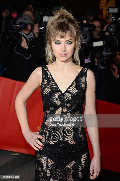 Imogen Poots attends the 'A Long Way Down' premiere during the 64th Berlinale International Film Festival at the Friedrichstadt-Palast on February...
