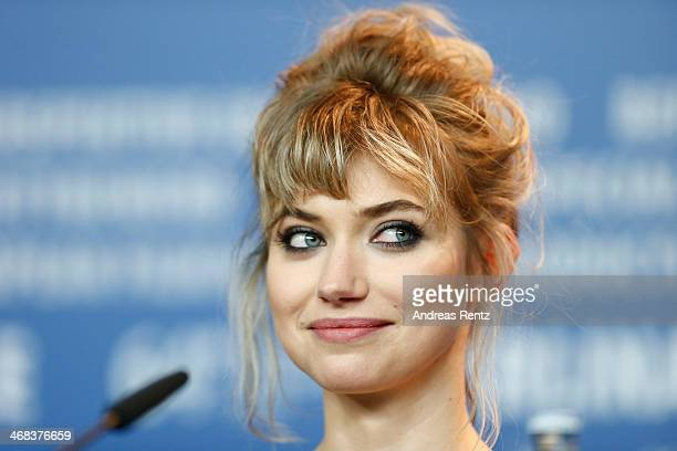 Imogen Poots attends the 'A long way down' press conference during 64th Berlinale International Film Festival at Grand Hyatt Hotel on February 10...