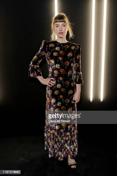 Imogen Poots attends the dunhill Dylan Jones PreBAFTA dinner at dunhill Bourdon House on January 29 2020 in London United Kingdom