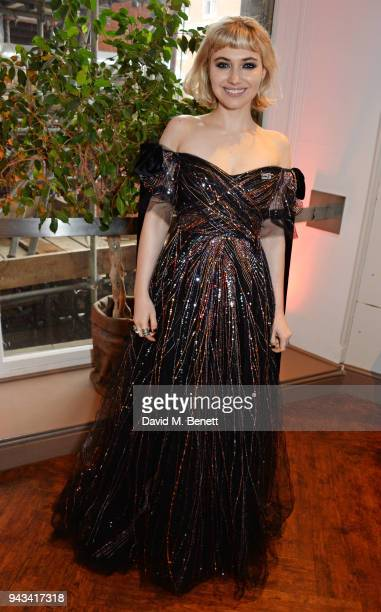 Imogen Poots attends The Olivier Awards with Mastercard at Royal Albert Hall on April 8 2018 in London England