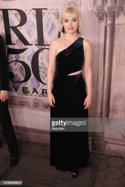 Imogen Poots attends the Ralph Lauren fashion show during New York Fashion Week at Bethesda Terrace on September 7 2018 in New York City
