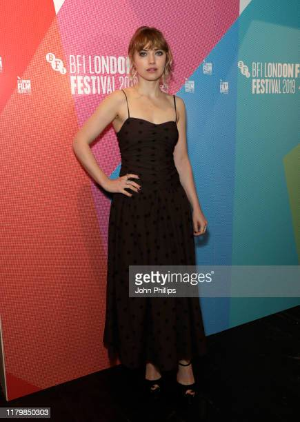 Imogen Poots attends the Vivarium European Premiere during the 63rd BFI London Film Festival at the Curzon Soho on October 08 2019 in London England