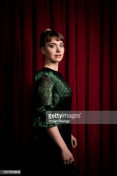 "Imogen Poots attends the ""Vivarium"" photocall at Curzon Soho on February 21, 2020 in London, England."