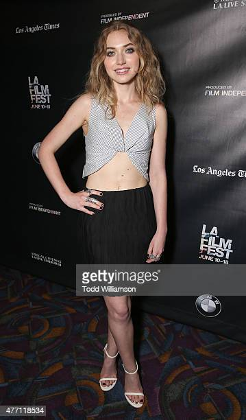 Imogen Poots attends the World Premiere of 'A Country Called Home' at The 2015 Los Angeles Film Festival at Regal Cinemas LA Live on June 13 2015 in...