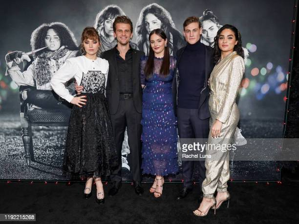 Imogen Poots Ben Black Lilly Donoghue Simon Mead and Brittany O'Grady attend a special screening of Black Christmas at Regal LA Live on December 05...