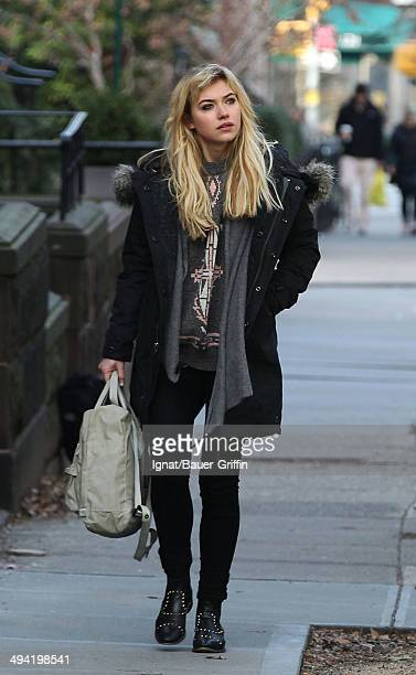 Imogen Poots is seen on the movie set of Are We Officially Dating on January 03 2013 in New York City