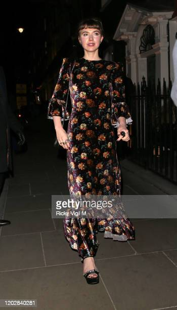 Imogen Poots seen attending Dunhill Dylan Jones BAFTAs Filmmakers Dinner Party at Bourdon House on January 29 2020 in London England