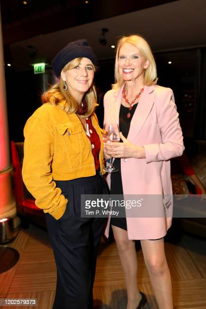 Imogen Stubbs and Anneka Rice pictured tonight at the Costa Book Awards at Quaglino's on January 28 2020 in London England