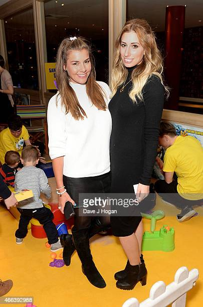 Imogen Thomas and Stacey Solomon attend 'The Spongebob Movie Sponge Out of Water' UK Gala screening on March 15 2015 in London England