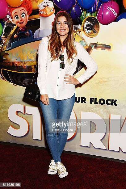 Imogen Thomas attends a multimedia screening of 'Storks' at Cineworld Leicester Square on October 2 2016 in London England