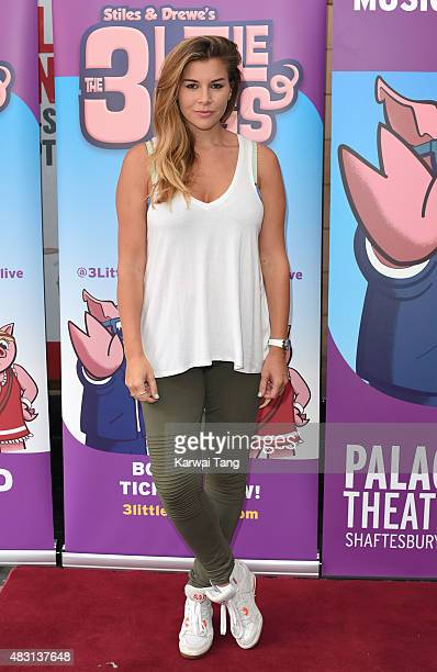 Imogen Thomas attends a VIP performance of 'The Three Little Pigs' at Palace Theatre on August 6 2015 in London England